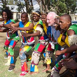 Some delegates visited the Inanda region of South Africa, where they were treated to a Zulu performance. // © 2014 Devin Galaudet