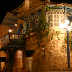 Many of Jaffa's restaurants and bars are located in restored buildings. // © 2013 Israel Ministry of Tourism