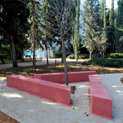 Tel Aviv's new memorial for LGBT victims of the Holocaust // © 2014 Israel Ministry of Tourism, North and South America
