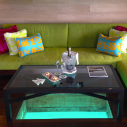 <p>Overwater villas come with a living room. // © 2014 Kenneth Shapiro</p><p>Feature image (above): Most of the units at the St. Regis Bora Bora are...