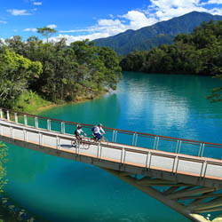 Sun Moon Lake is a modern-day boating and cycling tourist destination, a holy site for Taiwan's aboriginals and Chiang Kai-Shek's former retreat. // ©...
