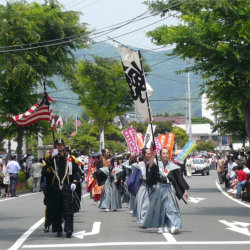 Every May, locals and visitors dress the part for the annual Shimoda Black Ship Festival // (c) Shimoda City Tourist Association