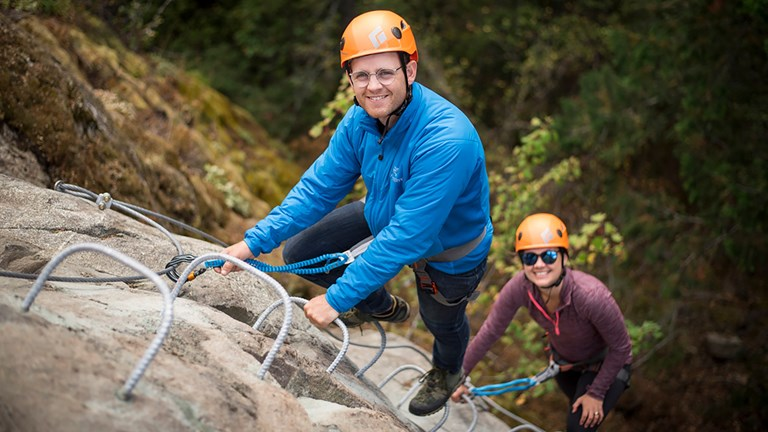 A via ferrata course is located near the property.