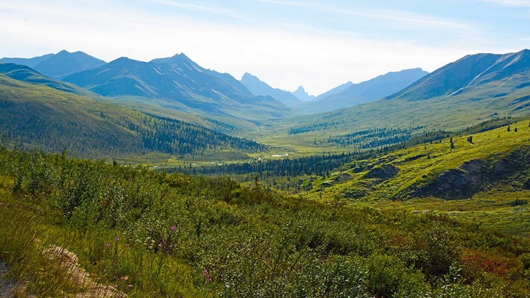 A view of the Tombstone Range from the Dempster Highway