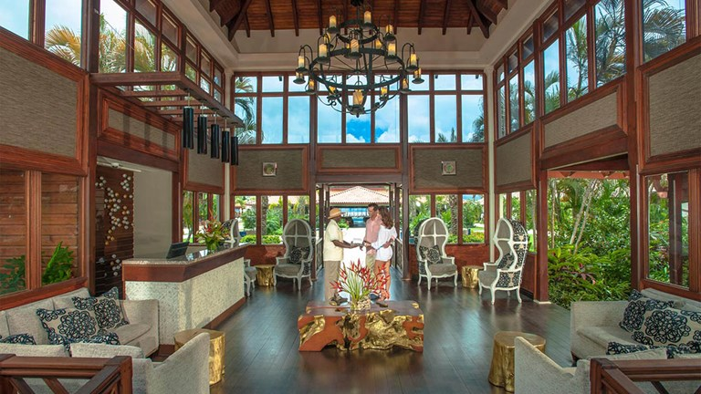 Sandals Grenada's design includes marine-themed accents and a subdued color palette.