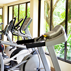 <p>Guests don't have to slack on their fitness routines at Parador Resort & Spa, where a new state-of-the-art gym offers jungle views. // © 2014...