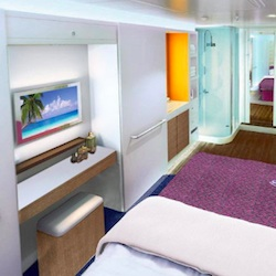 Norwegian Escape will offer 82 studio rooms for solo travelers. // © 2014 Norwegian Cruise Line