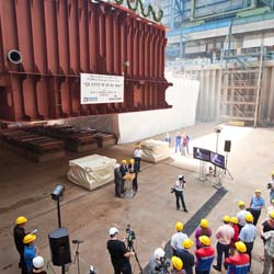 Royal Caribbean International commemorates two strategic developments at the Meyer Werft shipyard in Papenburg, Germany.  // © 2013 Royal Caribbean...