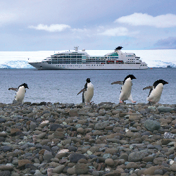 Luxury cruise lines, such as Seabourn, are now visiting more exotic destinations. // © 2014 Michael S. Nolan/Lindblad Expeditions