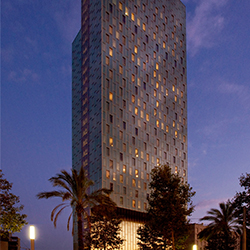The Melia Sky Barcelona is a hip hotel with stunning views. // © 2013 Melia Hotels International