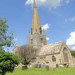 "<p>St. Mary's Church in the village of Bampton is the setting for many dramatic scenes in ""Downton Abbey."" // © 2014 Visit Oxforshire</p><div></div>"