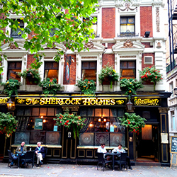 <p>Visit the Sherlock Holmes Public House & Restaurant to grab a drink and pretend you're in Sherlock's study. // © 2014 Creative Commons user <a...