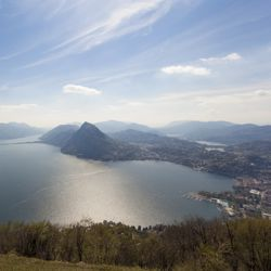 Ticino's Lake Lugano in southern Switzerland has a Mediterranean vibe. // © 2013 Thinkstock