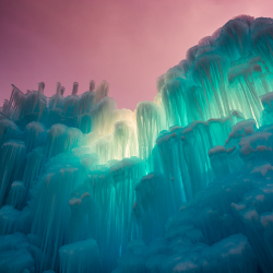 Night visitors get to see Ice Castles lit up from within. // © 2014 IceCastels: Sam Scholes