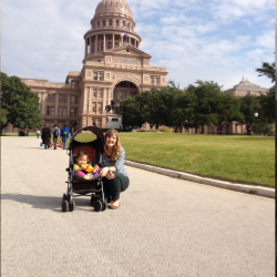 The writer and her daughter at the Texas State Capitol building // © 2014 Chelsee Lowe
