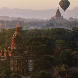 Cycle past ancient pagodas on the Burma Family Adventure.// © 2014 Thinkstock