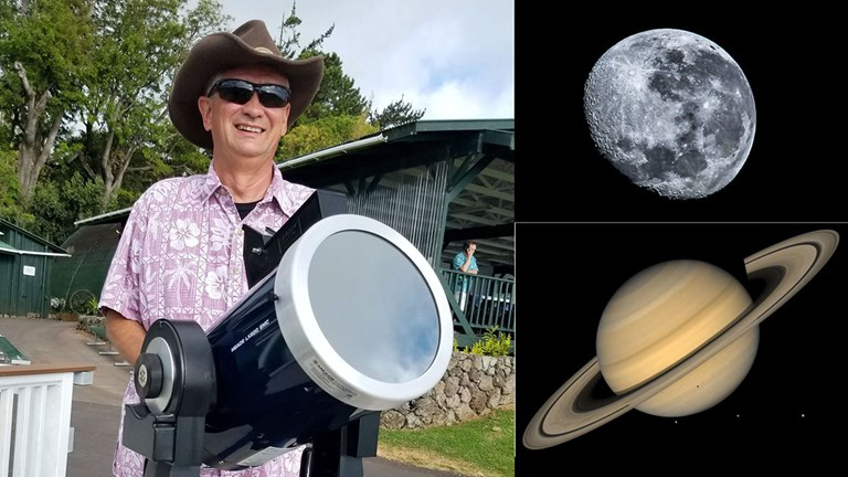 Astronomer Scott McCullough invites guests to explore the clear night skies.