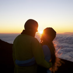 Many visitors opt to watch the sunrise from the top of Haleakala, or the East Maui Volcano. // © 2014 HTA and Max Wanger