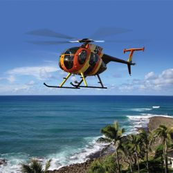 "Travelers can catch a helicopter ride on a recreation of the Chopper from ""Magnum, P.I."" out of Turtle Bay Resort. // © 2013 Turtle Bay Resort"