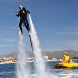Visitors in Cabo can use a jet pack like they are in a James Bond movie. // © 2013 Cabo Jet Pack