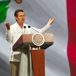 <p>Mexico's President Enrique Peña Nieto spoke at the conference. // © 2014 Christian Palma/AP/Mexico Tourism Board</p><p>Feature image (above):...