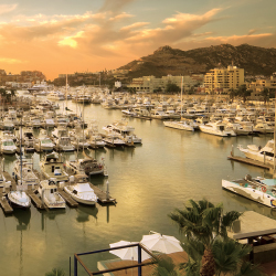 Many hotels in Los Cabos offer views of the city's scenic marinas. // © 2014 Los Cabos Tourism Board