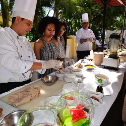 <p>Guests at Casa Velas can participate in onsite cooking classes. // © 2014 Bob Demyan</p><p>Feature image above: Grand Velas resort offers multiple...