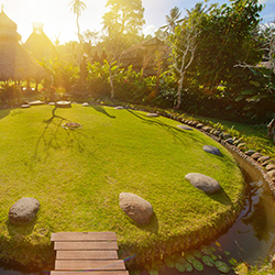 <p>The Sacred Space meditation circle at Fivelements also functions as a gathering site. // © 2014 Fivelements, Puri Ahimsa</p><p>Feature image...