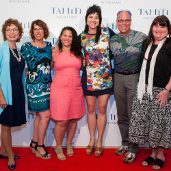 From left to right: Katie Cadar, TravelStore Platinum; Gretchen MacKnight, Perfect Honeymoons/Holidays Travel; Christina Turrini, Frosch Travel; Skye...