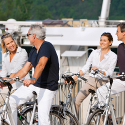 Bicycles are available on many of Uniworld's ships // © 2013 Uniworld Boutique River Cruise Collection