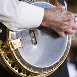 Daily bluegrass performances are a highlight on the new Bourbon and Bluegrass itinerary from American Queen Steamboat Company. // © 2014 American...