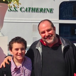 Kenneth Shapiro, editor-in-chief of TravelAge West, sailed on the S.S. Catherine's inaugural voyage with his son. // © 2014 Kenneth Shapiro