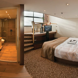 Tauck's new ships, Inspire and Savor, will each offer 32 loft-style staterooms. // © 2014 Tauck