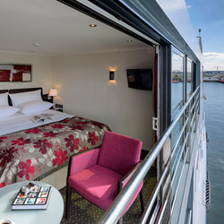 The Avalon Poetry II and Avalon Impression will offer panorama suites with large sliding glass doors. // © 2014 Avalon Waterways