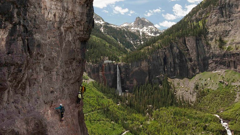 In summer 2018, The Hotel Telluride is offer a package where guests can climb the local via ferrata course with guides from San Juan Outdoor Adventures.