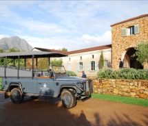 Land Rovers drive clients to see the vines at the Waterford Estate // (c) 2010 Janeen Christoff