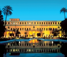 A restored 19th-century palace is at the heart Cairo Marriott Hotel & Omar Khayyam Casino. // © 2010 Marriott International