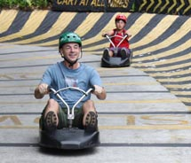 The Skyline Luge Sentosa attraction offers fun for the whole family. // © 2011 Deanna Ting