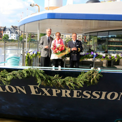 Avalon Expression was christened in Germany. // © 2013 Avalon Waterways