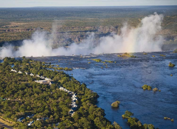 The Royal Livingstone is a 10-minute walk from Zambia's Victoria Falls. // (c) The Royal Livingstone