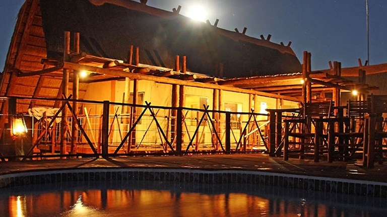 The remote !Xaus Lodge is situated within South Africa's Kgalagadi Transfrontier Park. // © 2016 !Xaus Lodge