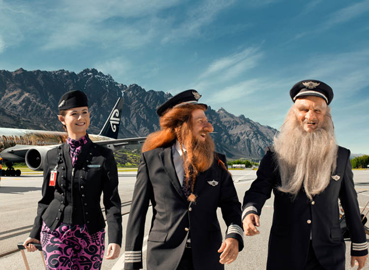 Air New Zealand's Hobbit-themed videos feature New Zealand's domestic airports. // © 2013 Air New Zealand