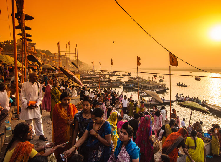 The River Ganges is regarded as the holiest of rivers in the Hindu religion // (C) 2013 Shutterstock