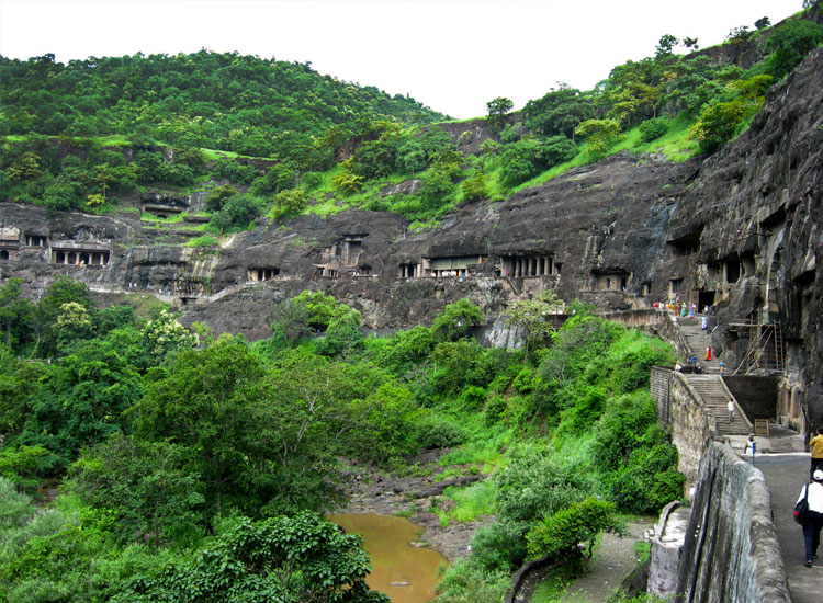 Ajanta features 30 Buddhist caves // (C) 2013 Flickr/sankarshan