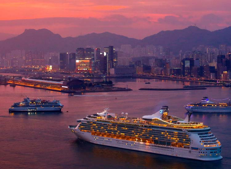 Hong Kong's new Kai Tak Cruise Terminal, which opened in June, is able to berth two Oasis-class ships simultaneously. // © 2013 Hong Kong Tourism Board