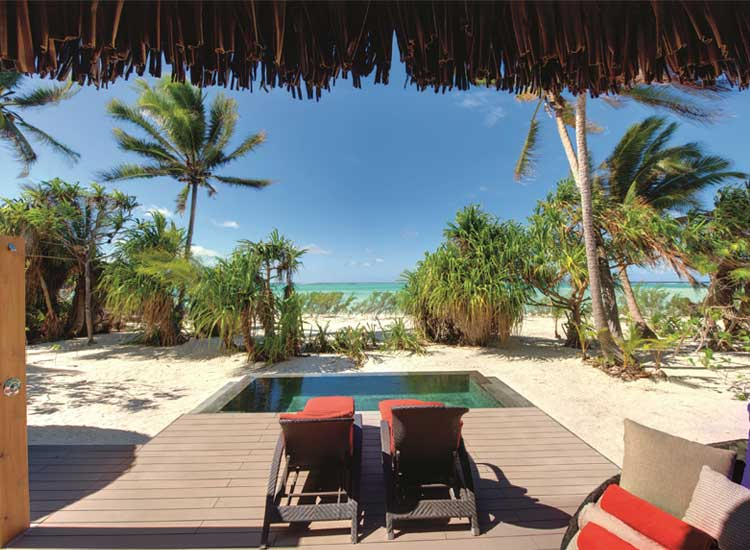 The Brando will offer 35 private beachfront villas, each with its own plunge pool. // (c) 2014 The Brando