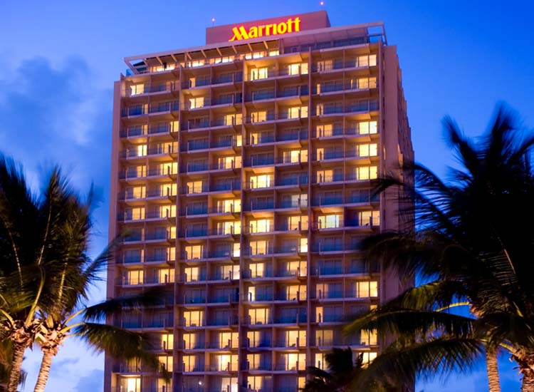 The San Juan Marriott Resort & Stellaris Casino is located in the trendy neighborhood of Condado. // © 2014 San Juan Marriott Resort & Stellaris Casino
