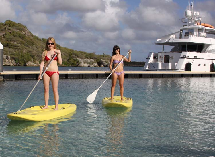 Ocean Encounters' on-site dive and water sports center rents out kayaks and paddleboards. // © 2014 Cody Geib