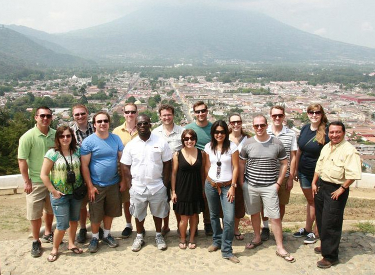 The ASTA YPS fam trip group atop Hill of the Cross above Antigua, Guatemala // (c) 2013 ASTA YPS