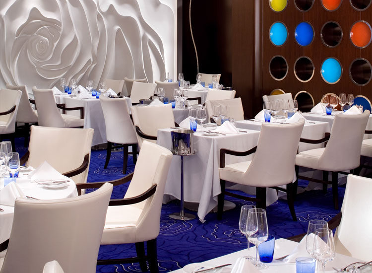 Feast on gourmet fare at Blu Restaurant // (c) Celebrity Cruises